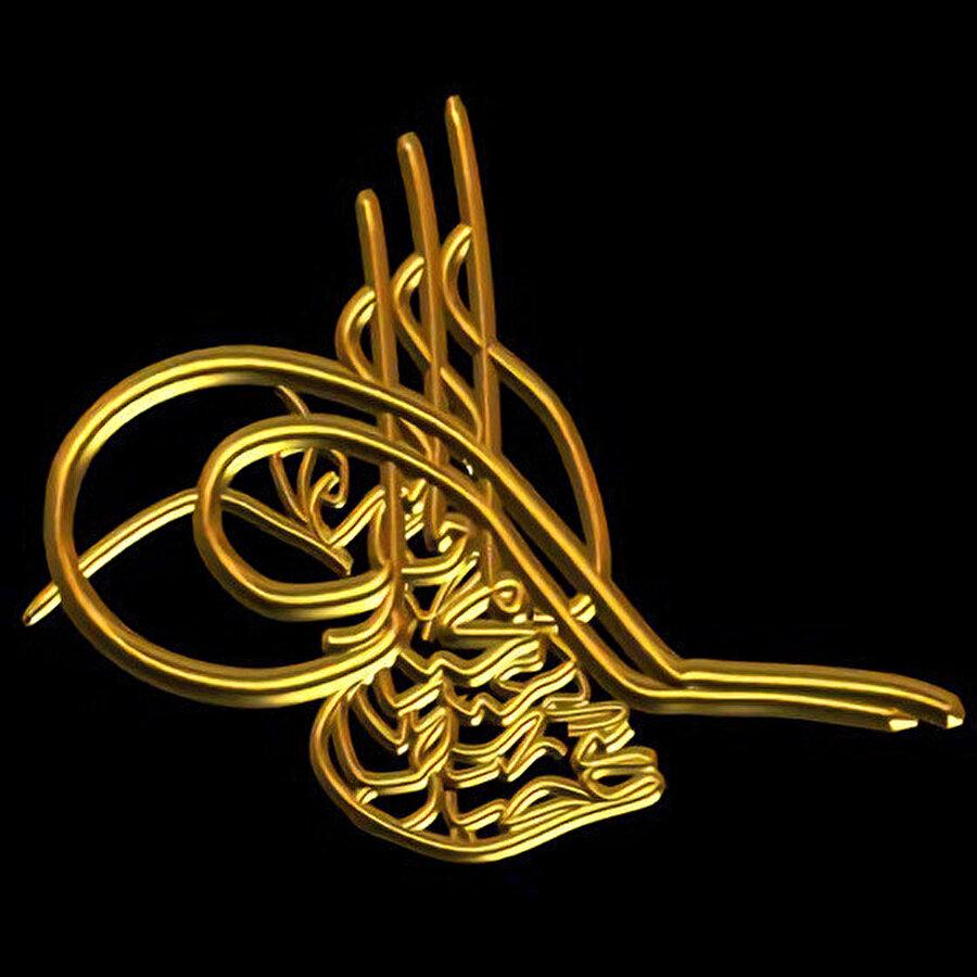 Sultan II. Abdulhamid'e ait tuğra.