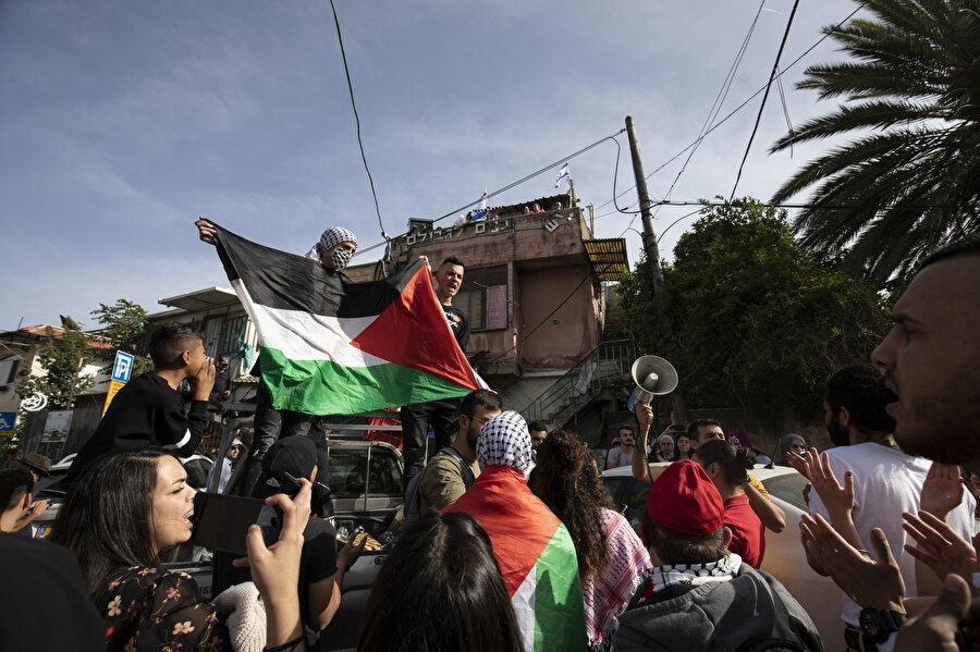 İsrail'in zorunlu göç tehdidine maruz kalan Filistinliler.