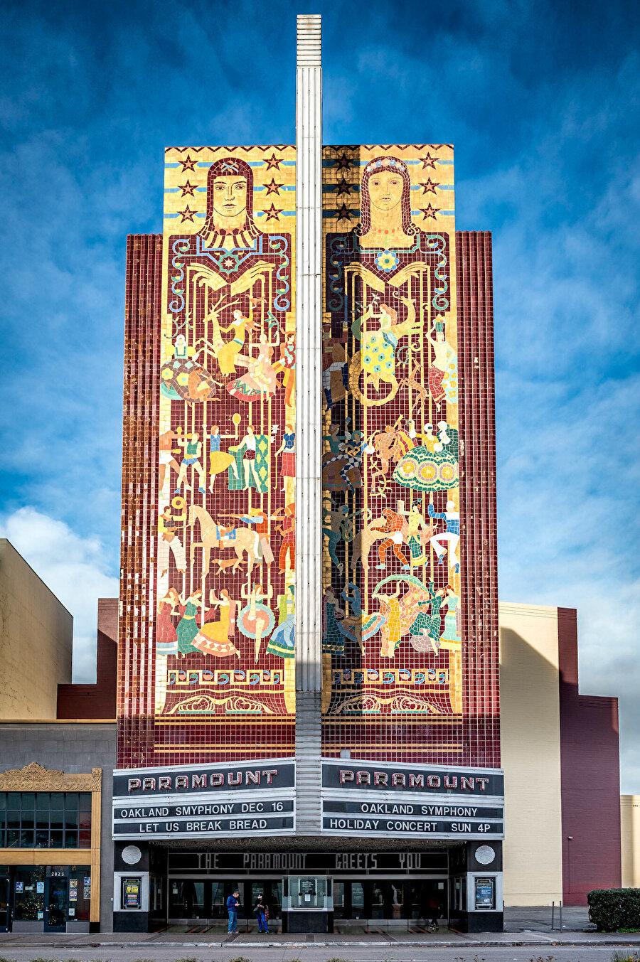 Paramount Tiyatro Binası, Oakland, Kalifornia, 1929.