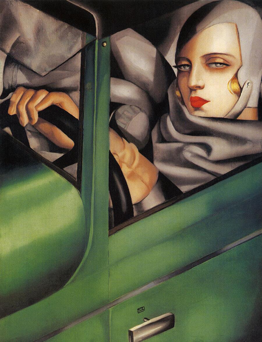 The Self-Portrait in the Green Bugatti, 1929.