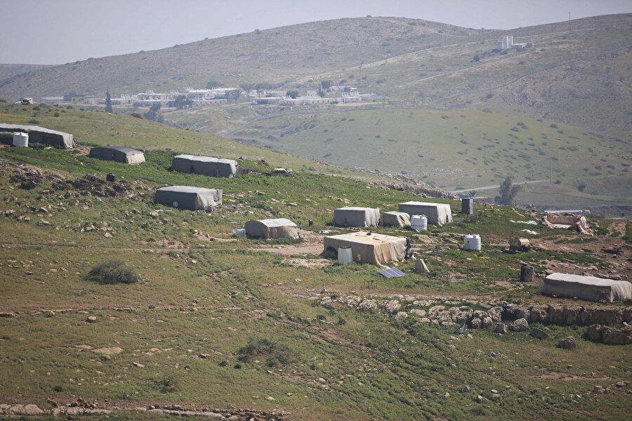 Köyde 135 Filistinli yaşıyor.