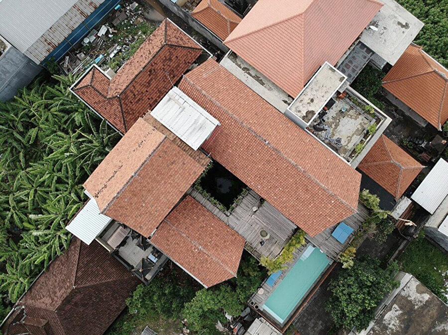 700 metrekare alan üzerine kurulu projenin hava fotoğrafı.