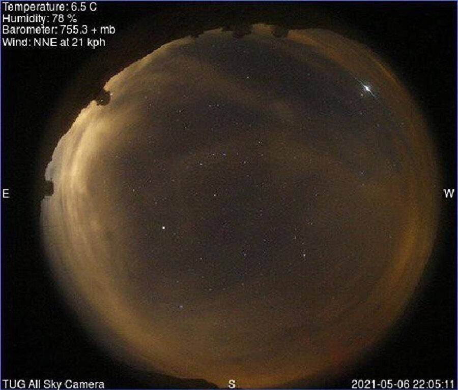 TÜBİTAK Ulusal Gözlemevi'nin paylaştığı fotoğraf