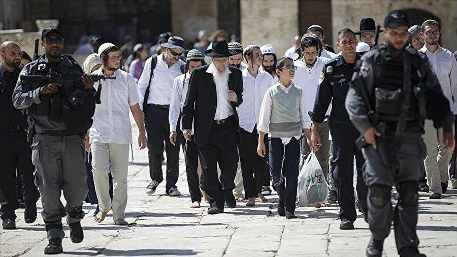 2019'da 30 bin Yahudi'yle gerçekleşen Aksa baskını.