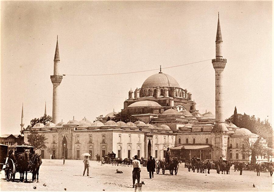 Bayezid Camii'ne asılan mahya ipi (1870'ler).