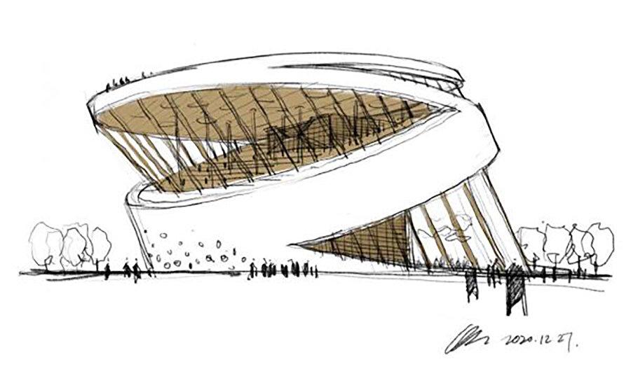 Proje, okuma salonu ve toplu yaşam salonu olmak üzere iki önemli mekan üzerinde şekilleniyor.