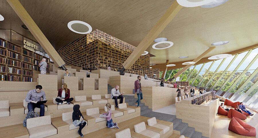 Bu yeni nesil kütüphanenin, halka okuma ve öğrenme deneyimi sunarak etkinliklerin, toplantıların, sergilerin yapıldığı yerel bir mekan olarak hizmet vermesi amaçlanıyor.