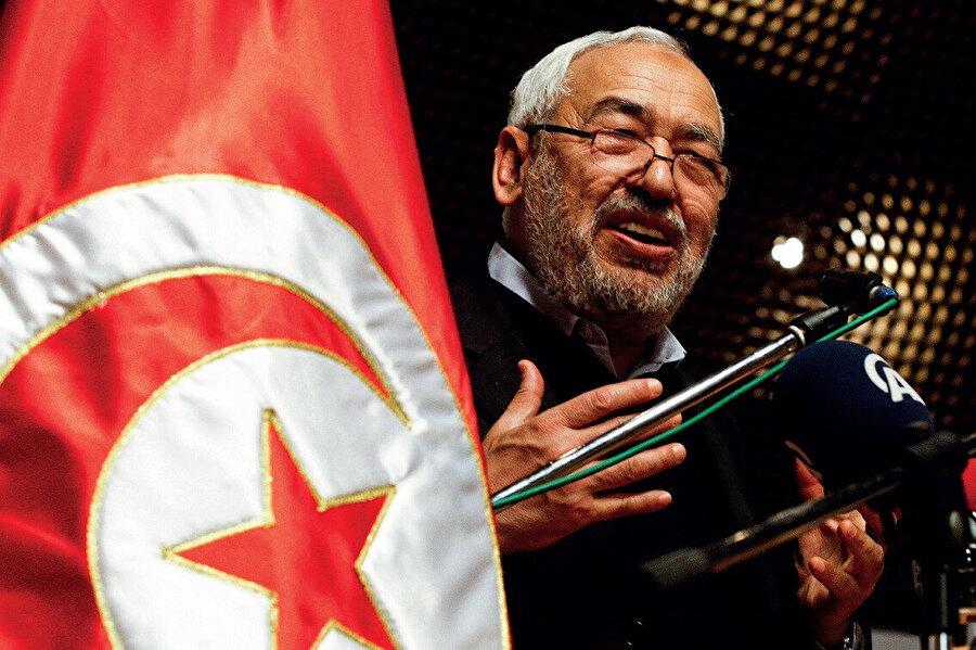 Tunus Meclis Başkanı ve Nahda Hareketi'nin lideri Raşid Gannuşi.