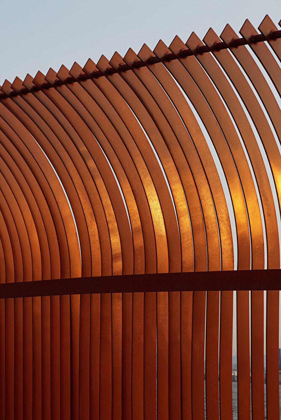 Korten çelik paneller.