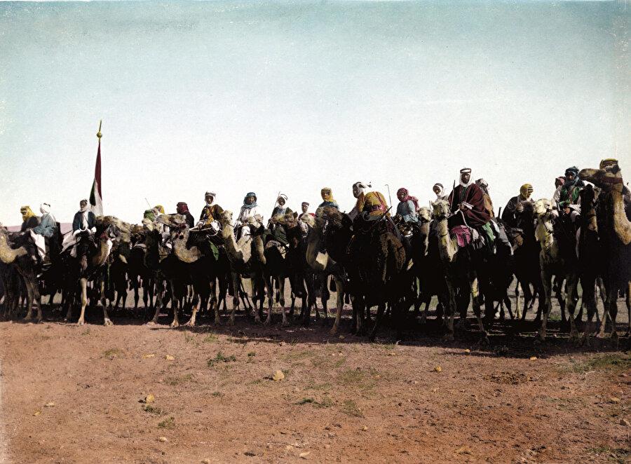 Haziran 1916 tarihinde gerçekleşen Arap Ayaklanması'na ait bir fotoğraf.