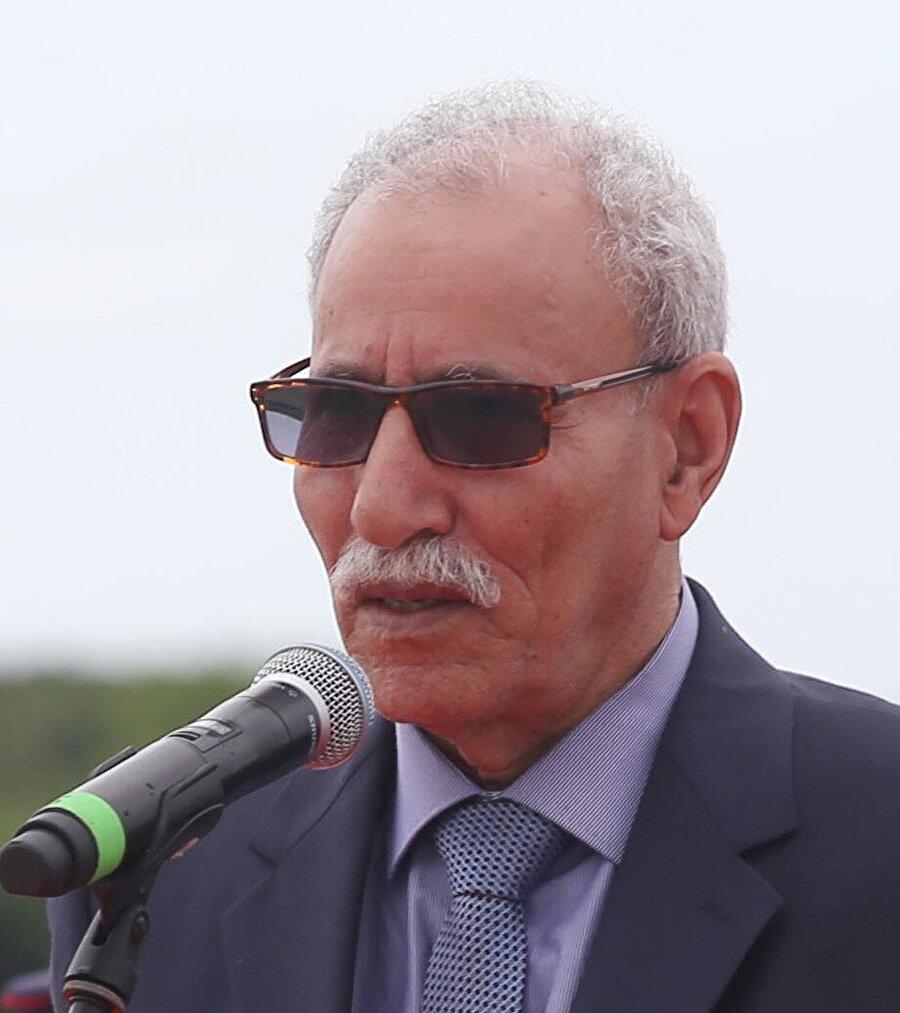 Ayrılıkçı gündemiyle 45 yıldır Fas ile savaş yürüten Polisario Cephesi'nin lideri İbrahim Ghali.