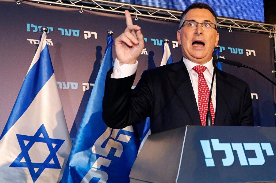 Netanyahu'nun dönüşümlü başbakanlık teklifini reddeden muhalif siyasetçi Gideon Saar.