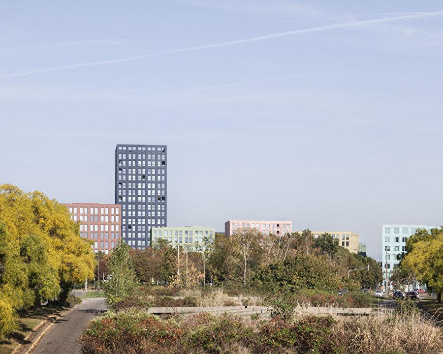 Nolistra'da kullanılan renk düzeni Strazburg'un silüetine hareket katıyor.