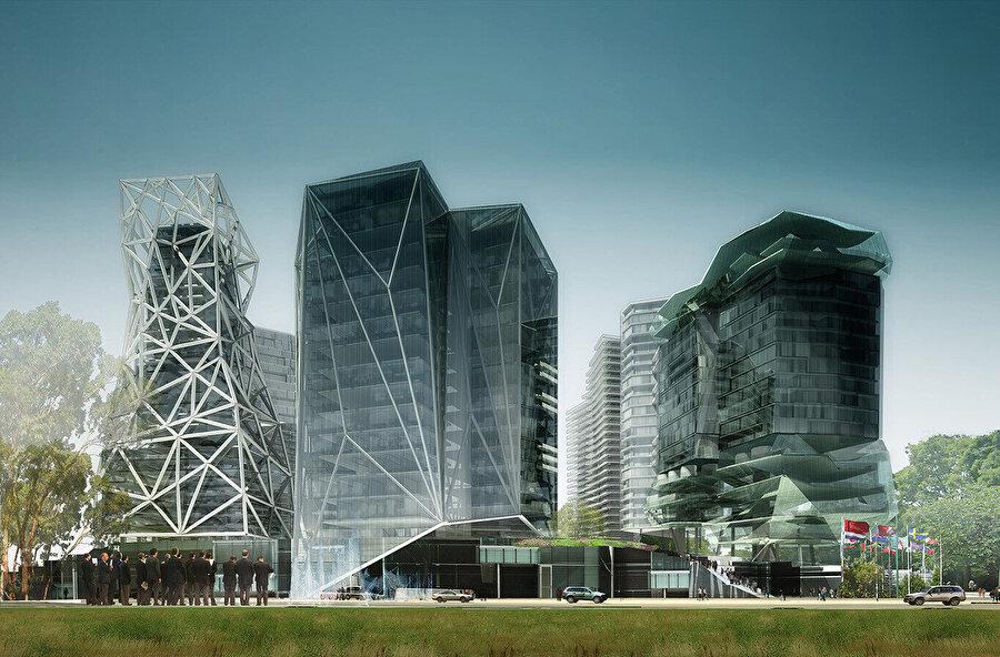 Zorlu Center Mimarlık ve Kentsel Tasarım Yarışması kapsamında hazırlanan konsept proje.