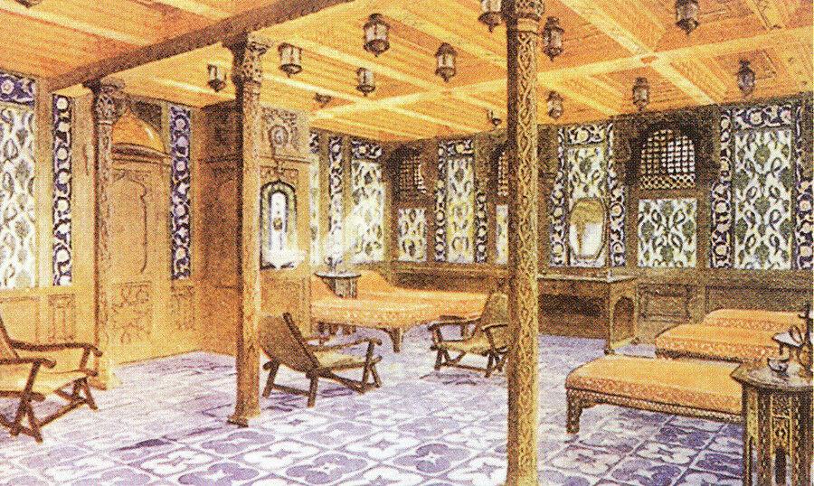 Buram buram Osmanlı kokuyor. Doğu mimarisinden detaylar taşıyan Türk hamamının Türk mimar ve mühendisler tarafından dizayn edildiği biliniyor. Bu karede bile Osmanlı kokusunu içimize çekebiliyoruz.