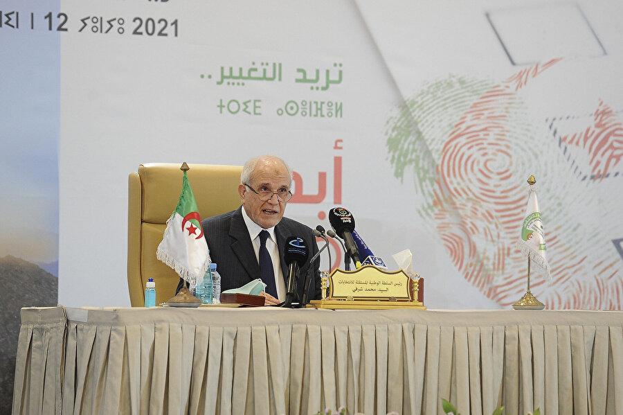 Bağımsız Ulusal Seçim İdaresi (ANIE) Başkanı Muhammed Şerfi.