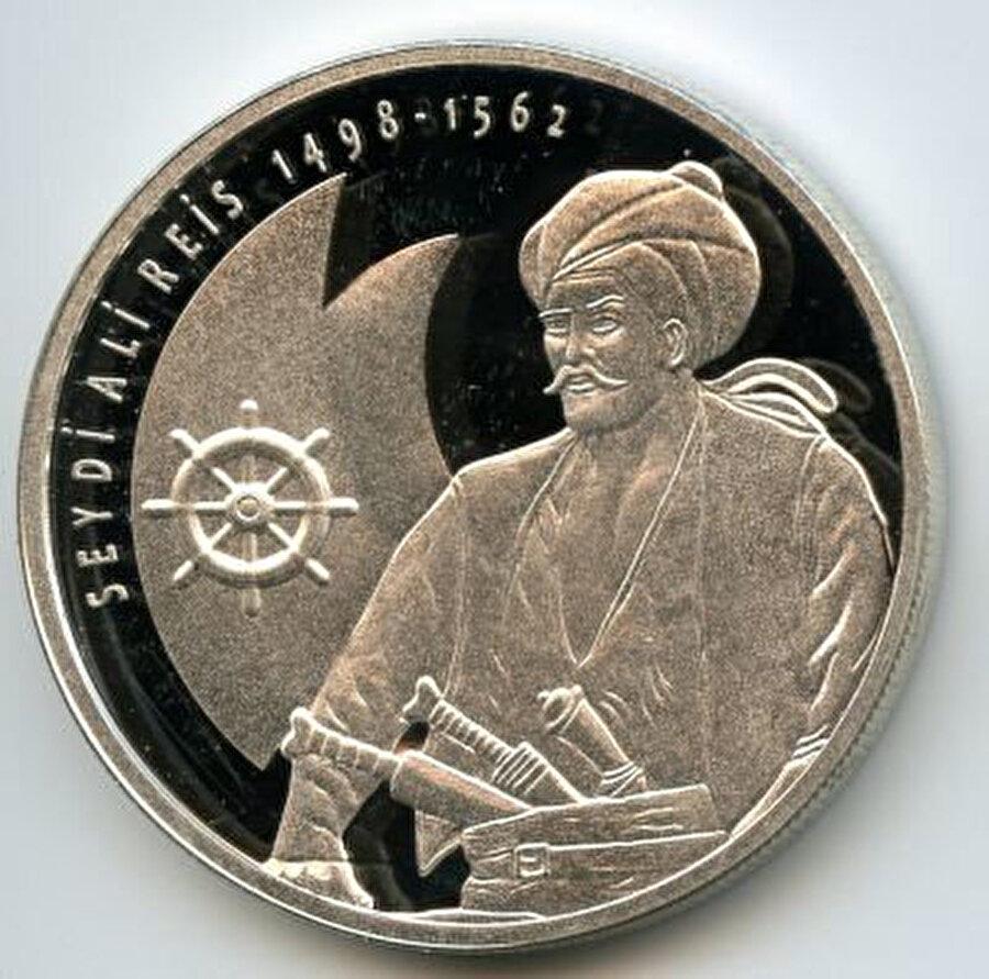 Seydi Ali Reis adına 2013'te bastırılan, hatıra gümüş para.