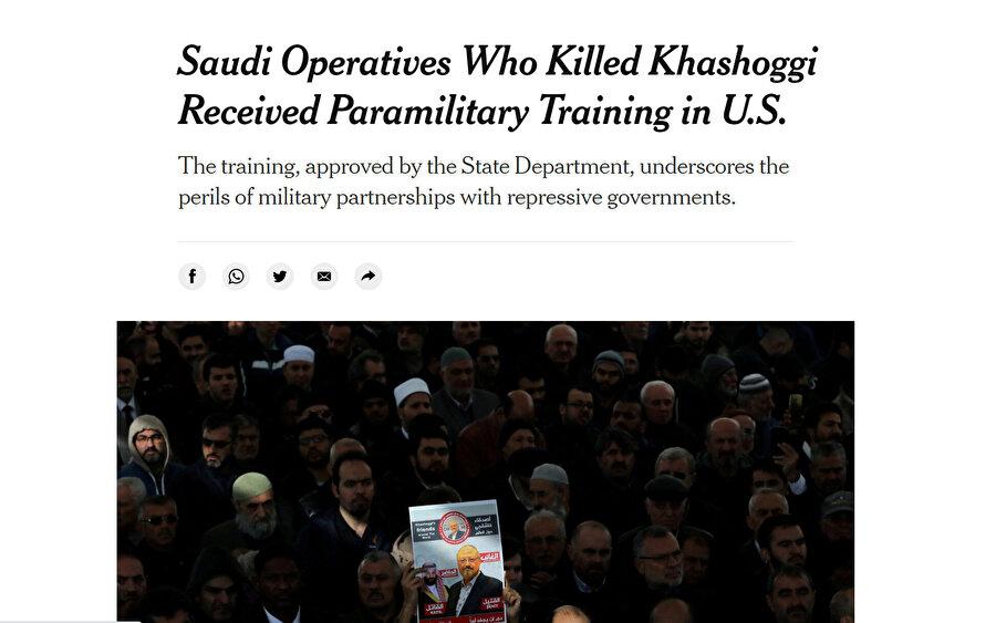 Cemal Kaşıkçı cinayetiyle ilgili The New York Times'ın haberi: Kaşıkçı'yı öldürenler ABD'de paramiliter eğitim aldı.