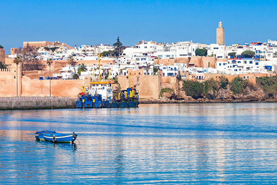 Rabat'ın denizden görünüşü.