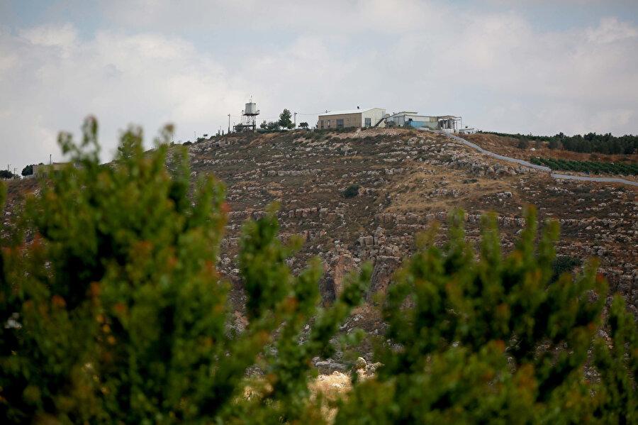 İşgalci Yahudi çobanın yaşam alanı.