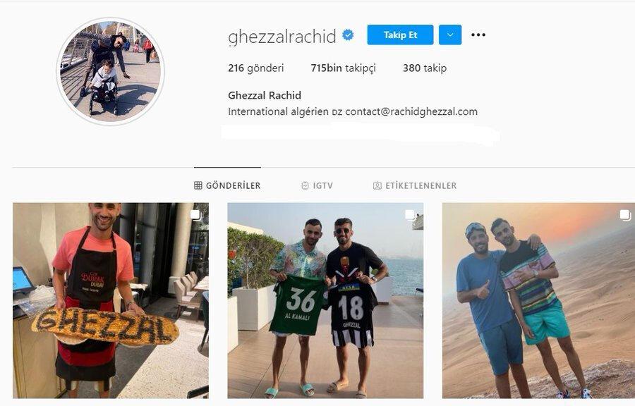Ghezzal, profilindeki Beşiktaş yazısını ve kartal emojisini kaldırdı