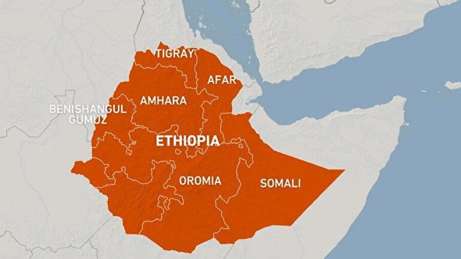 Tigray, Amhara ve Afar bölgelerinde yaşanan çatışmalar nedeniyle bölge halkının gıdaya ulaşma imkanı gittikçe azalıyor.