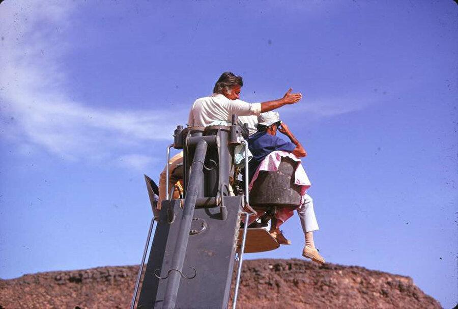 Mustafa Akkad, çekimler sırasında.