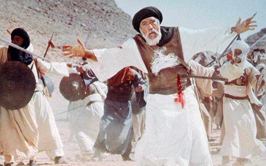 Akkad'ın güçlükle çekebildiği, Hz. Hamza'nın şehadet sahnesi.