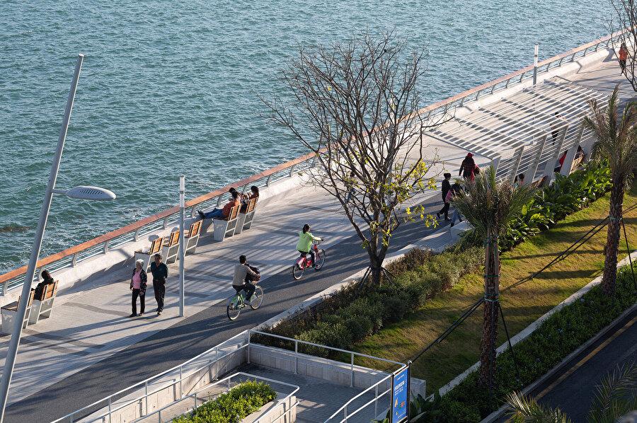 Bisiklet parkuru 19,5 km boyunca devam ediyor.