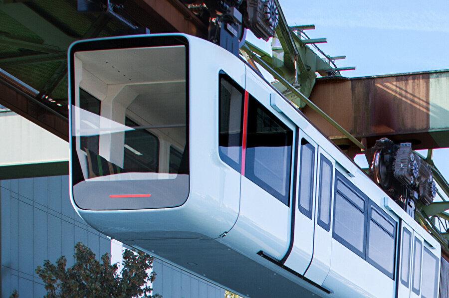 Wuppertal Demir Yolu araçlarından tasarım ödülü alan vagon.