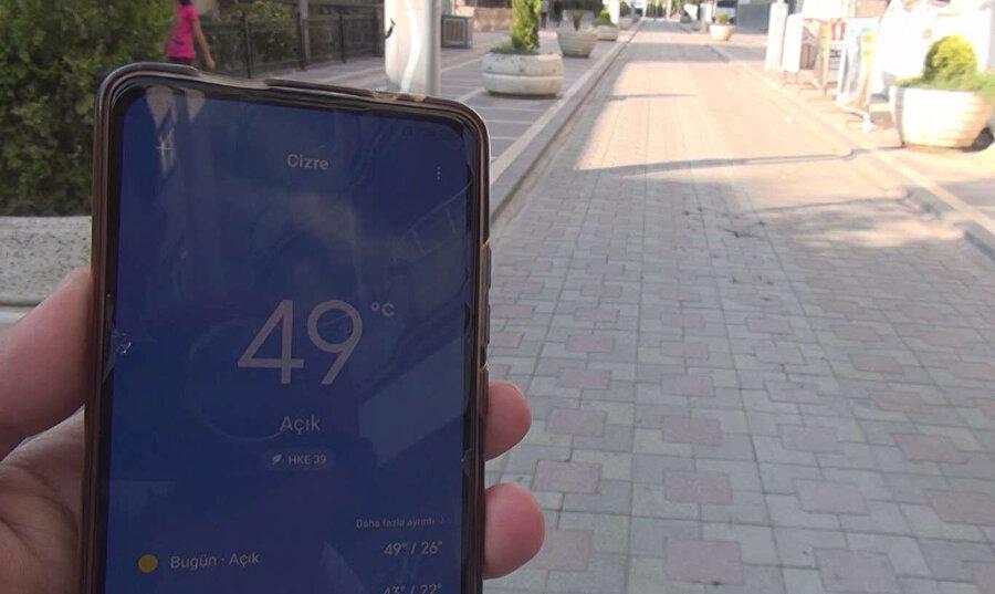 Termometreler 49 dereceyi gösterdi
