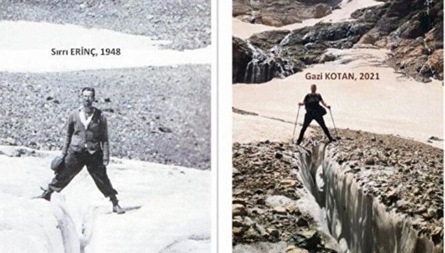Yıllar sonra aynı bölgede çekilmiş iki farklı fotoğraf