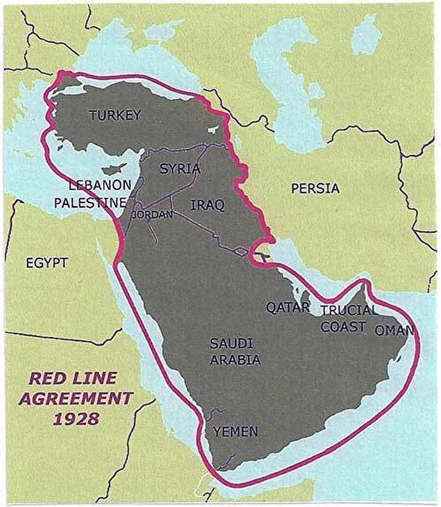 31 Temmuz 1928'deki anlaşma sınırlarının, Gülbenkyan'ın anılarından oluşturulan hikâyenin aksine, anlaşmaya konu olan sahanın, şirketlerin müzakereleri sonucunda belirlendiği de konuyla ilgili zikredilen iddialardan.