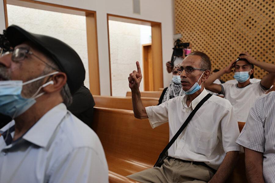 Şeyh Cerrah'taki tehcir kararına direnen 4 aile de mahkemeye katıldı.