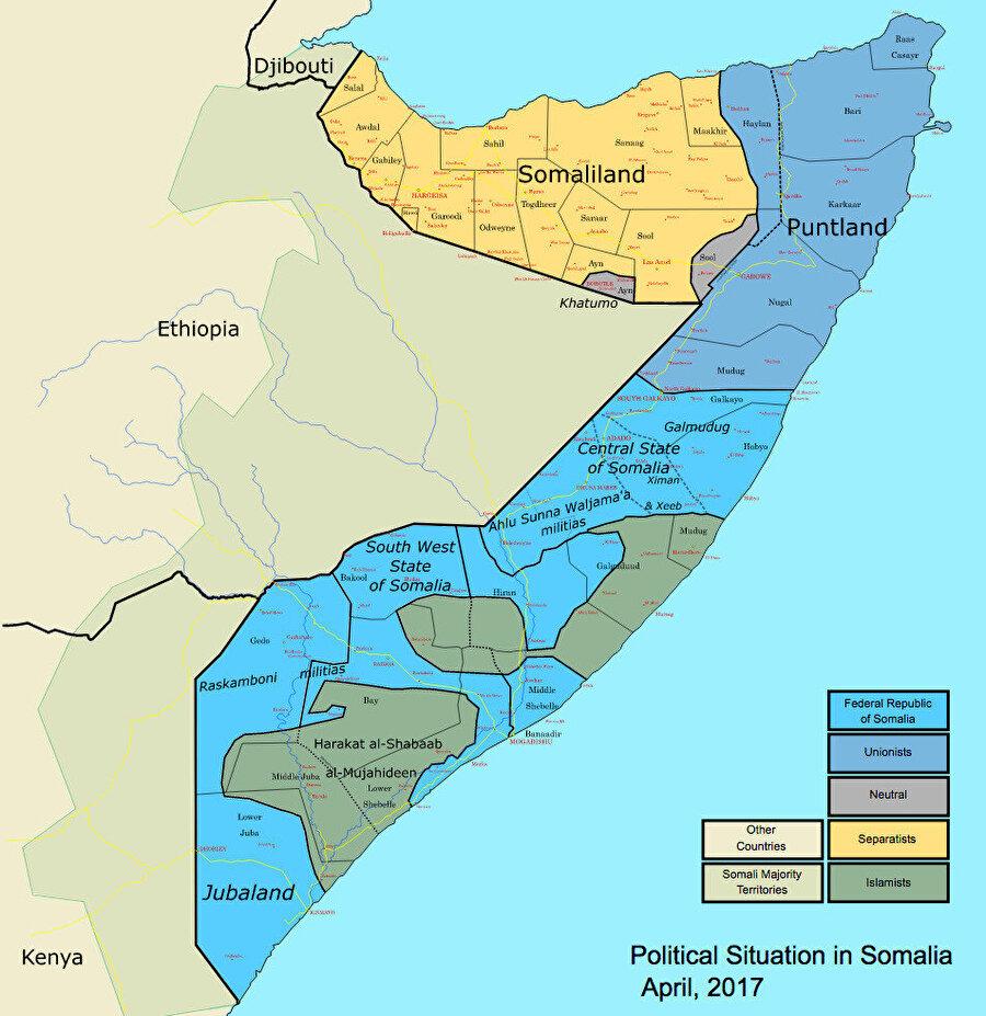 Somali'de 2017'deki seçimlerde oluşan siyasi tablo.