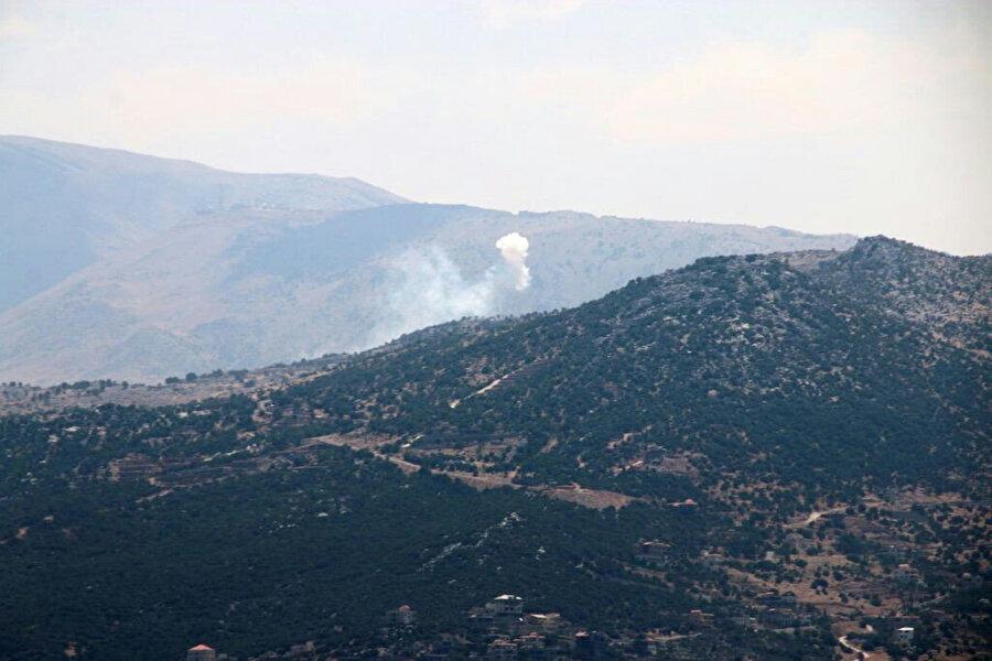 Hizbullah'ın saldırıları üzerine Golan Tepeleri'nde sirenlerin çaldığı belirtildi. Fotoğraf: İHA