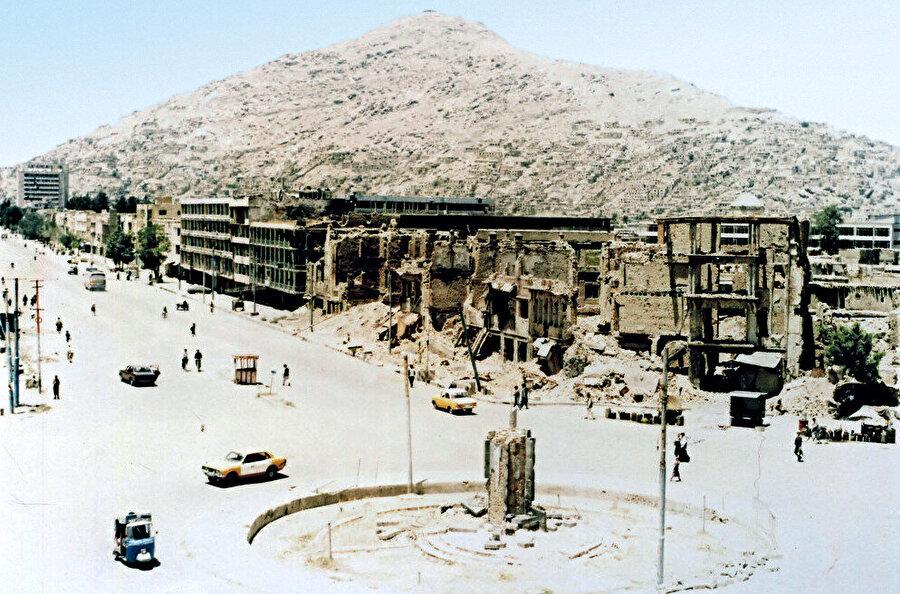 Afgan İç Savaşı yıllarında Kabil'den bir fotoğraf.