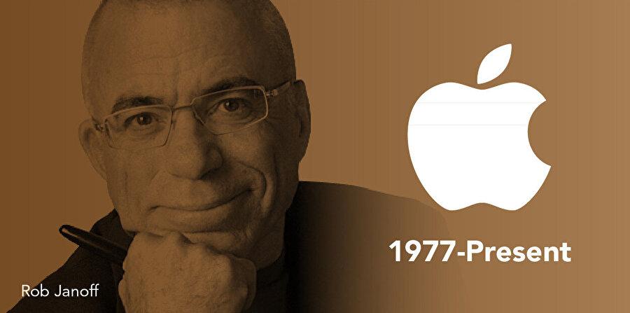 'Isırılmış elma' (bitten apple) fikri ile Apple markasının Grafik Tasarımcısı Rob Janoff.