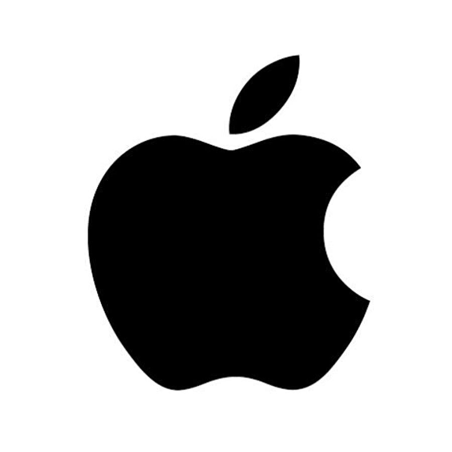 1998 yılında, kullanılan, Apple logosundan renklerin çıkarılması ile oluşan logo.