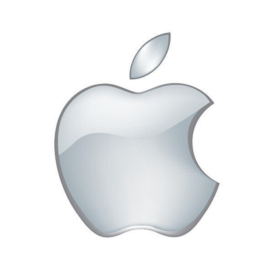 2001, Metal teması ile Apple logosu.
