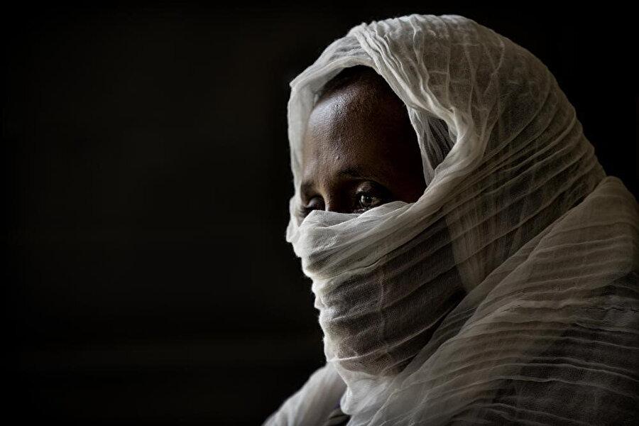 Tigray bölgesinde kişilik hakları ihlal edilen kadınlar.