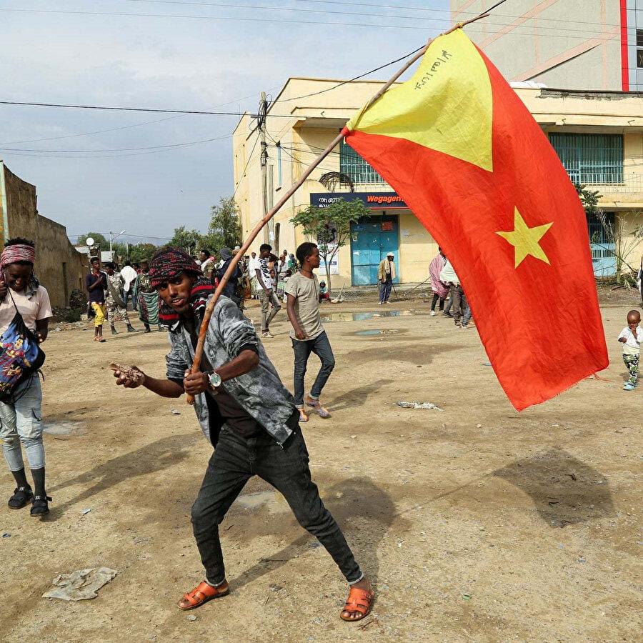Çatışmaların yaşandığı Etiyopya'nın Tigray bölgesi.