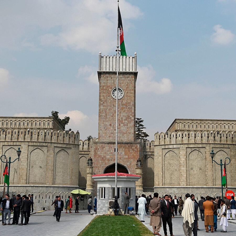 Afganistan cumhurbaşkanlığı sarayı.
