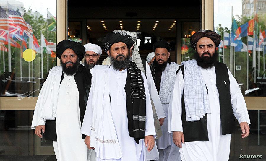 Molla Birader'in başında bulunduğu Afgan heyetin Moskova'da yürüttüğü barış müzakereleri, 2019.