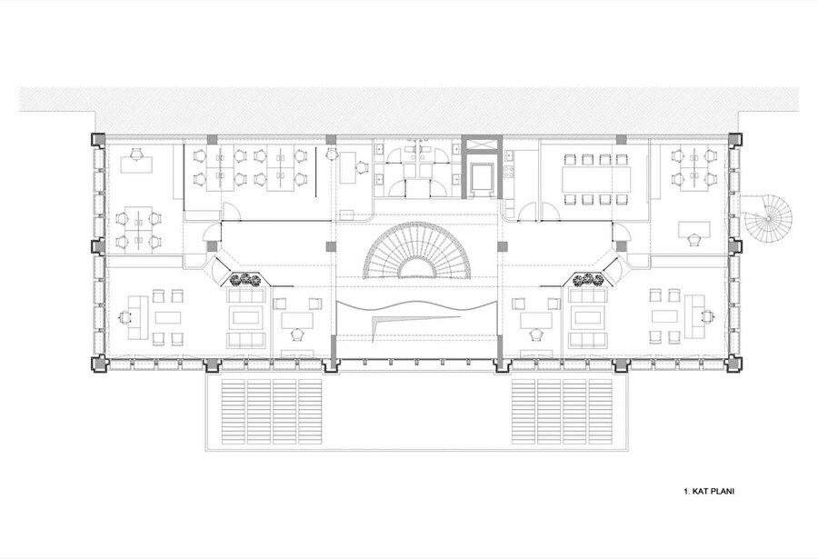 Empera İdari Binası 1. kat planı.