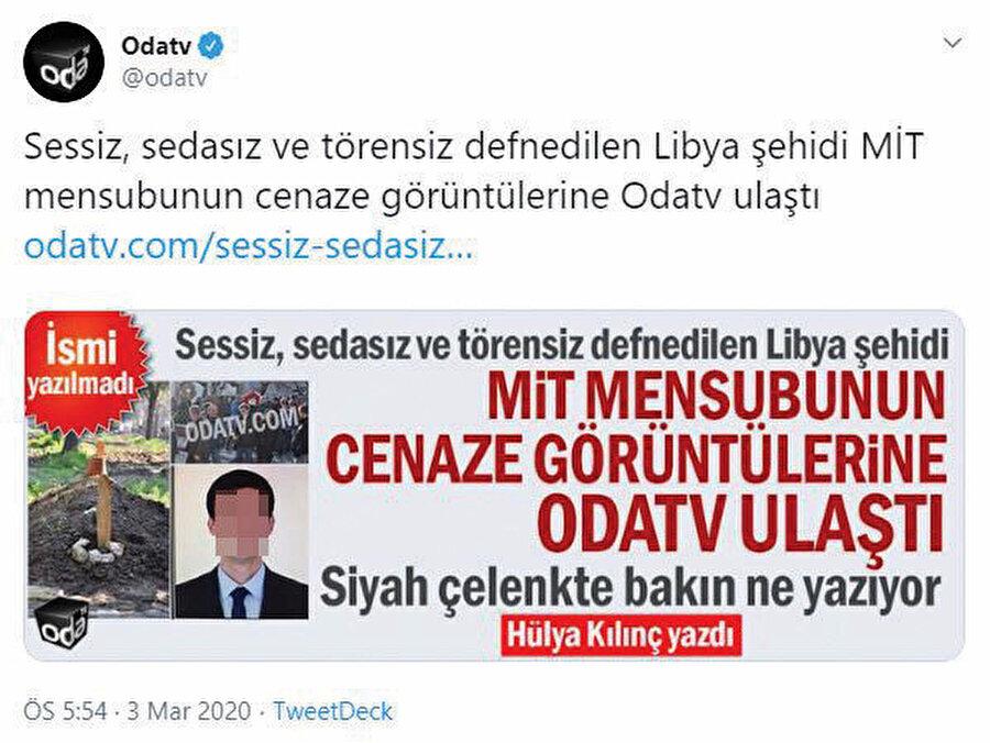 Türkiye'deki her karanlık operasyonda parmağı olan ve yalan haber konusunda uzmanlaşan Oda Tv isimli site bile, yayın yaptığı ülkenin kanunlarına açıkça kafa tutabiliyor.