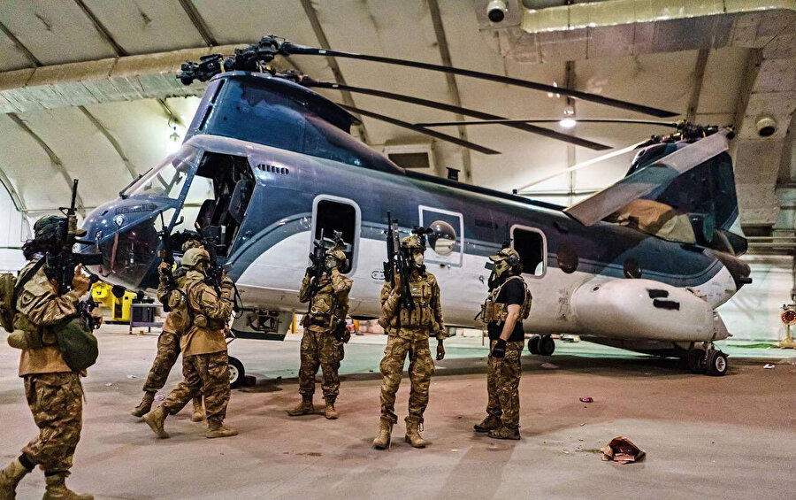 Bedrî 313'ün Taliban'a ait sosyal medya hesaplarından paylaşılan bir fotoğrafı.