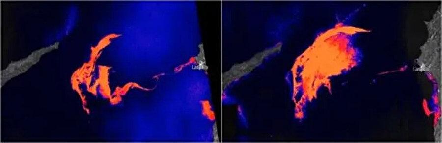 Sızıntının uydu görüntüleri