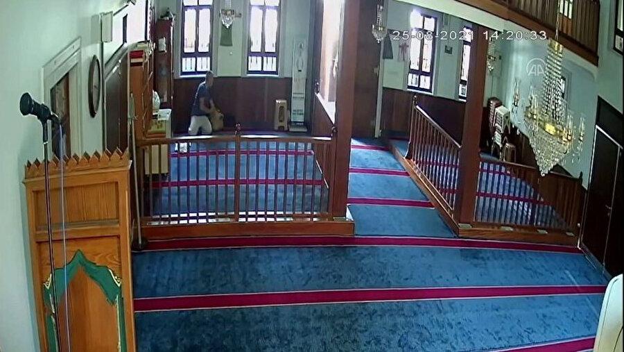 Cami kamerasına yansıyan görüntüler