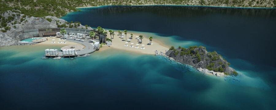 Projeye dahil olan Palm Sahili tasarımı.